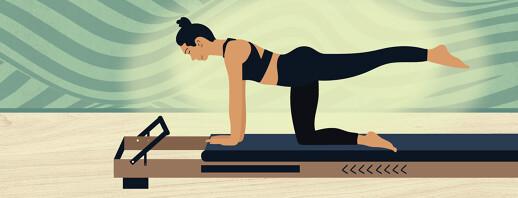 Pilates Reformer Exercise as RLS Treatment image