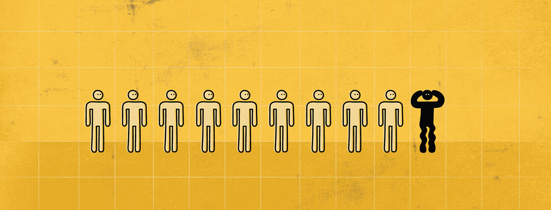 a pictograph showing ten people, one of which is colored in an has restless legs
